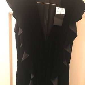 Zara woman velvet frilled jumpsuit